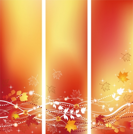 Autumn banners with place for your text   Vector
