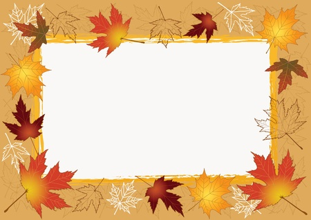 Autumn photo framework     Vector