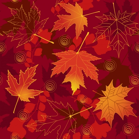 autumn leaf frame: Autumn seamless