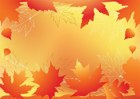 Autumn background with place for your text Stock Vector - 13673390