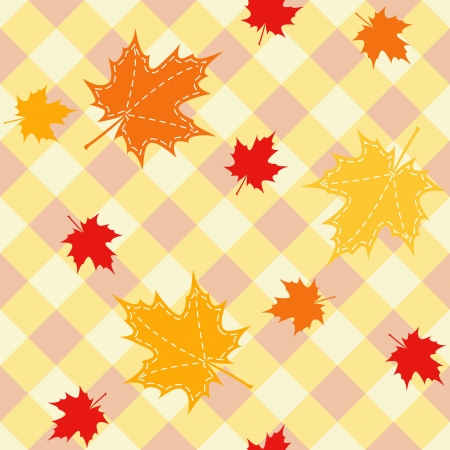 Seamless with leaf  Vector
