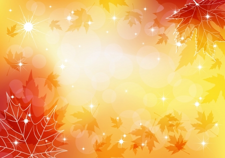 Autumn transparent background  Vector