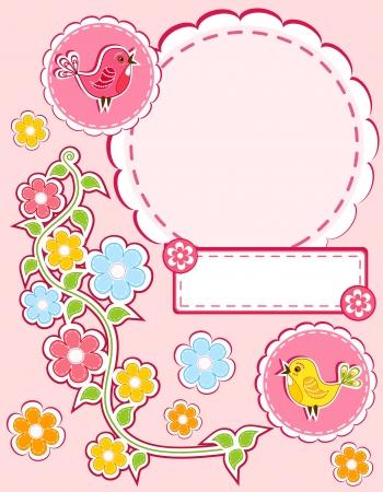 color photo: Baby album page