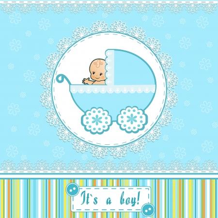 Douche van de Baby-kaart Vector illustratie