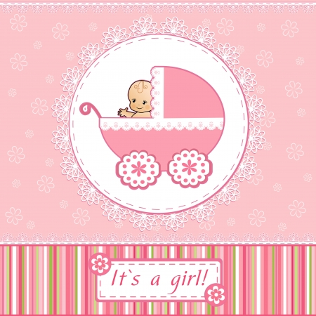 shower b�b�: Carte de Baby Shower Illustration