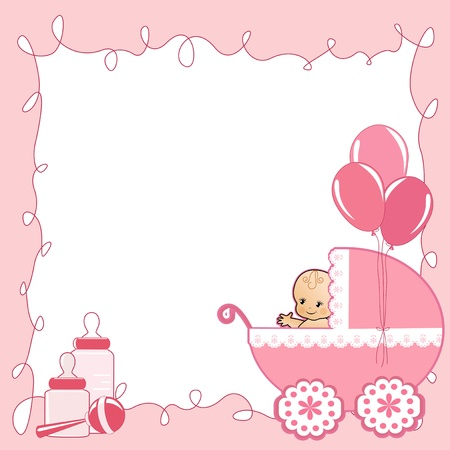baby illustration: Baby Shower card