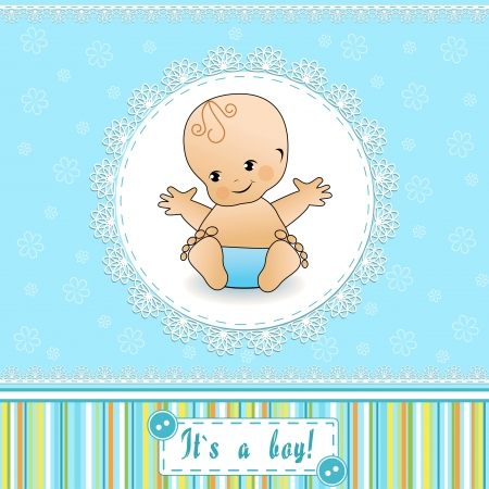 Tarjeta de Baby Shower Ilustración de vector