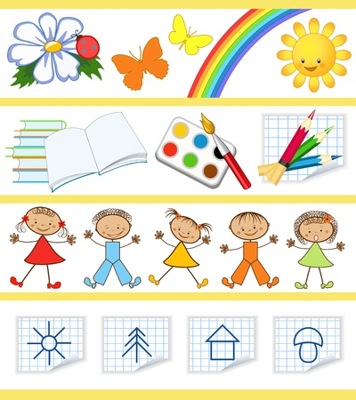Kids education Set Vector