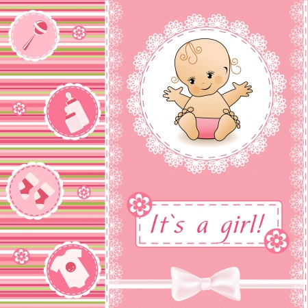 Baby Shower card Stock Vector - 14155835