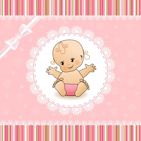 Baby Shower card  Illustration