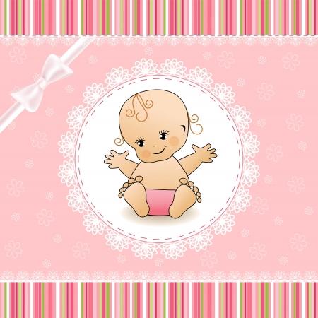 doilies: Tarjeta de Baby Shower
