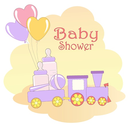 event party festive: Baby Shower card