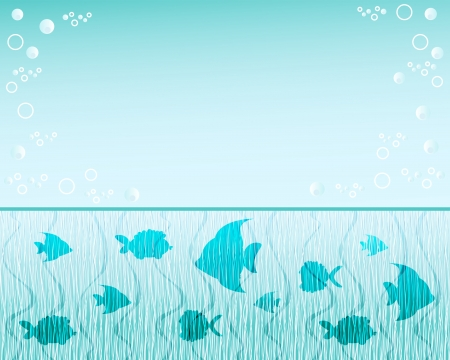 Fish  background  Blue water  Vector illustration  Stock Vector - 14155970