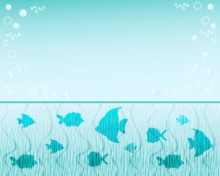fish pond: Fish  background  Blue water  Vector illustration  Illustration