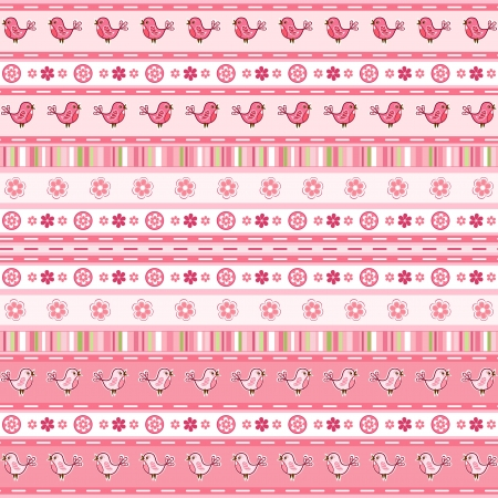 Set pink ribbon     Vector