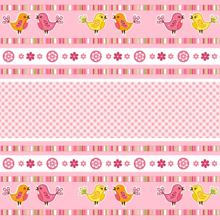 Set pink ribbon