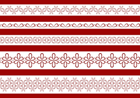 Ornamental lace collection     Vector