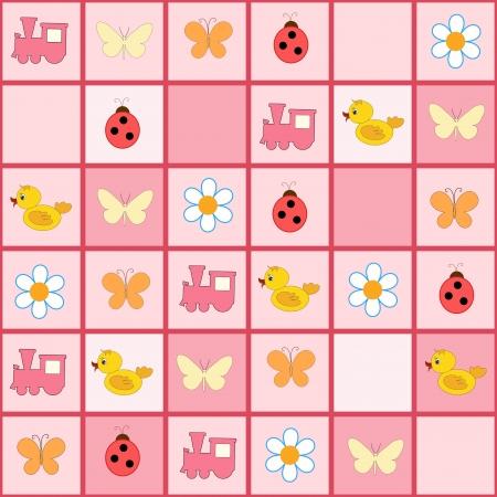stria: Pink baby background