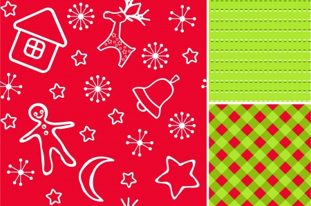 chequered: Red Christmas seamless