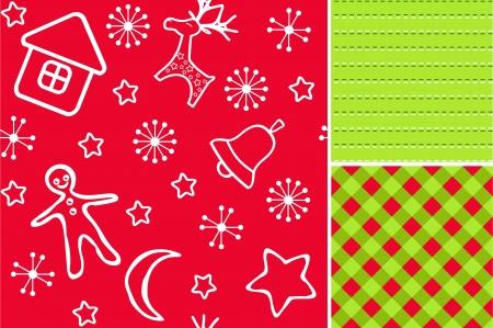sem costura: Red Christmas seamless Ilustra��o