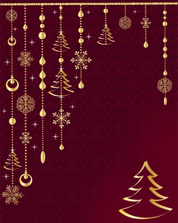 Red Christmas decoration Stock Vector - 16184116