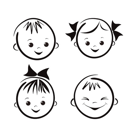Laughing children Vector