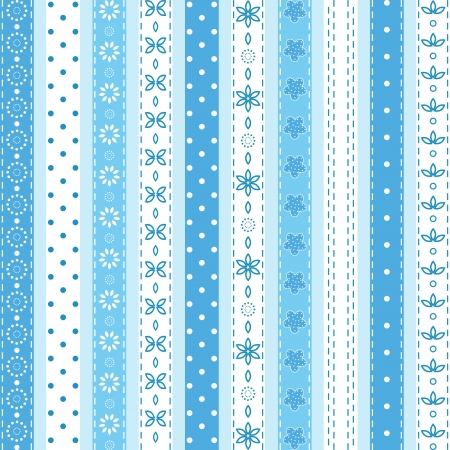 scrapbooking: Set blue ribbon
