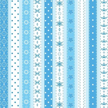 lace edges: Set blue ribbon