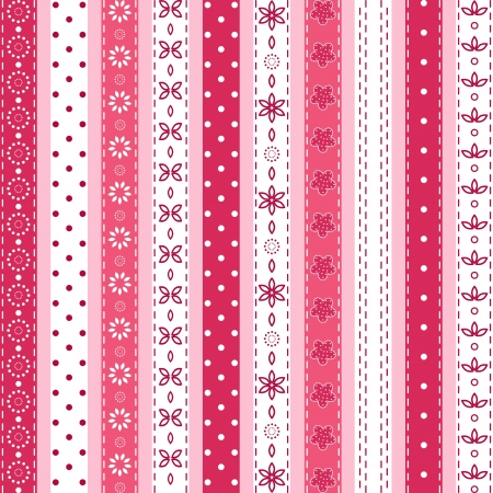 needlework: Set pink ribbon