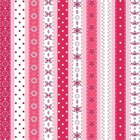 repetition row: Set pink ribbon