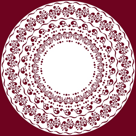 paper cut out: Pattern of lace doily