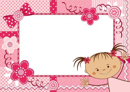 lace edges: Pink children frame