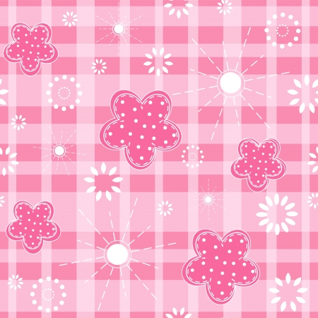 Baby pink seamless  Vector