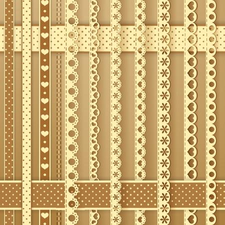 needlework: Elementi di design di raccolta per scrapbook Vettoriali