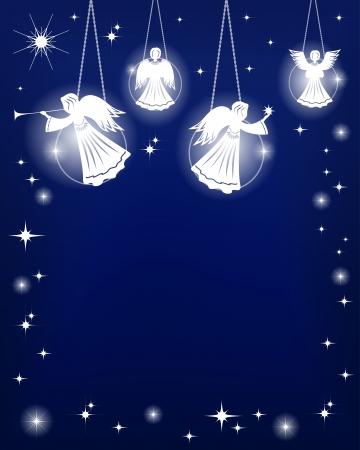 クリスマスの飾り天使のベクトル図