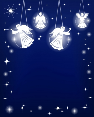 Christmas decoration  Angels  Vector illustration