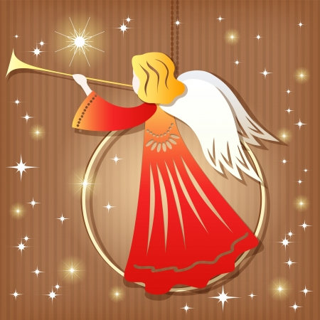 Christmas decoration  Angel  Vector illustration