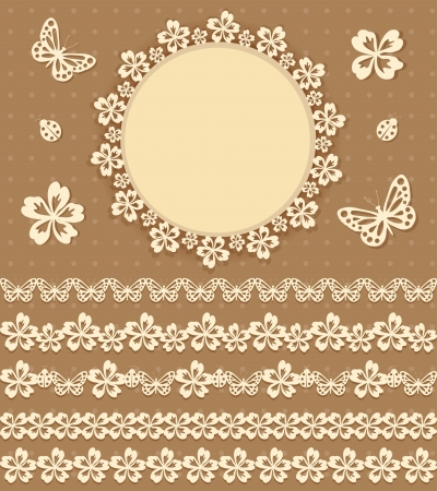 Collection design elements for scrapbook  Vector illustration  Vector