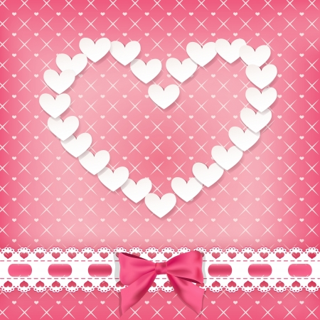 Valentine s background with heart  Vector illustration  Vector