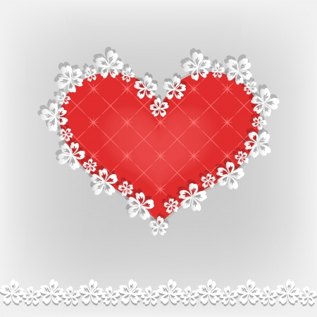 Valentine s background with heart  Vector illustration Stock Vector - 16579103