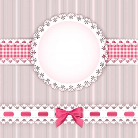バレンタインの背景フレーム ベクトル イラスト  イラスト・ベクター素材