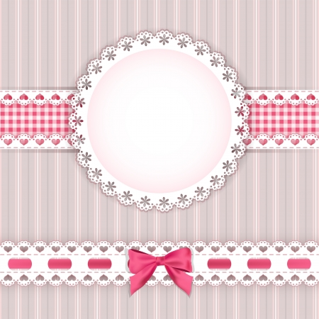 Valentine s background with frame  Vector illustration  Çizim
