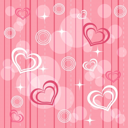 Pink pattern with heart  Vector illustration  Vector