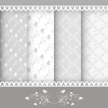 Collection for scrapbook  Patterns Vector