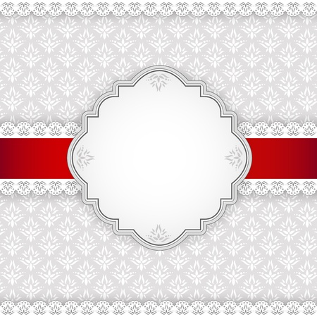 bowknot: Background with frame  Illustration