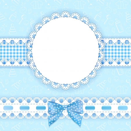 Baby background with frame  Vector illustration