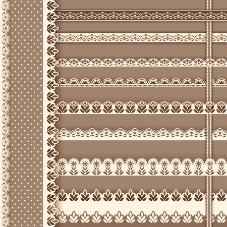 Collection Design Elements For Scrapbook Borders Vector Illustration