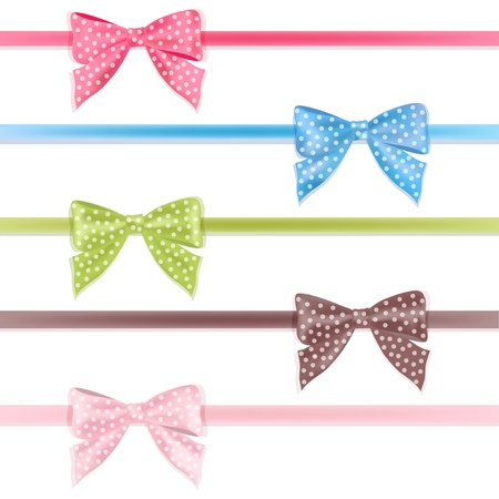 Set colorful ribbon  Vector illustration  Vector