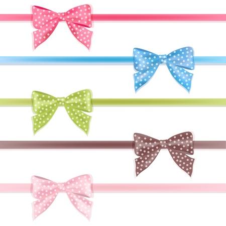 Set colorful ribbon  Vector illustration  Illustration