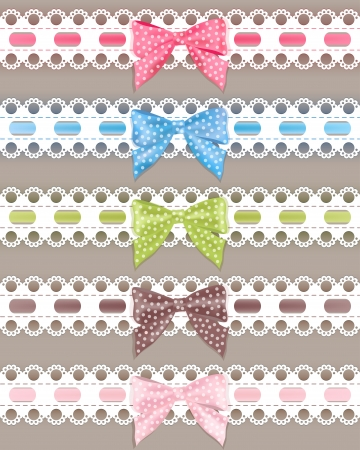 ribbon vector set: Set colorful ribbon  Vector illustration  Illustration